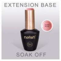 EXTENSION BASE DARK ROSE - NAILISH